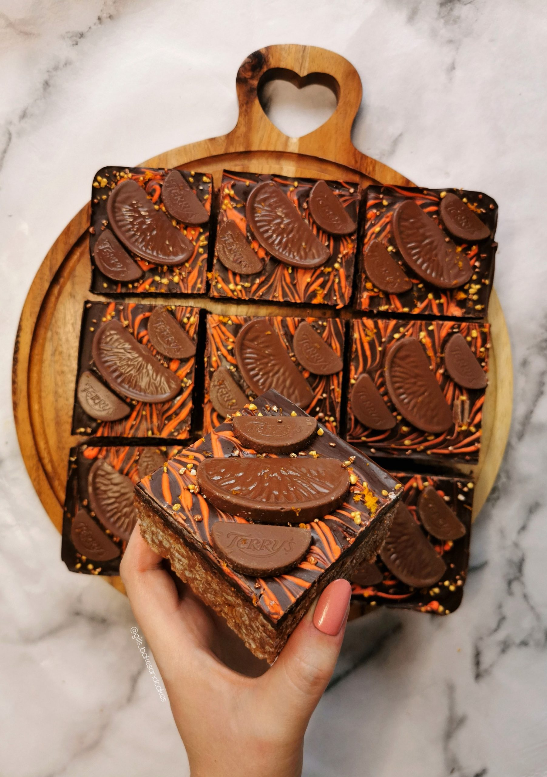 Terry's Chocolate Orange Rice Krispie Squares