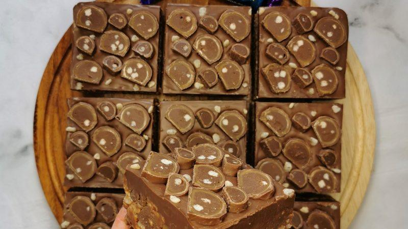 Cadbury's Boost Rice Krispie Squares
