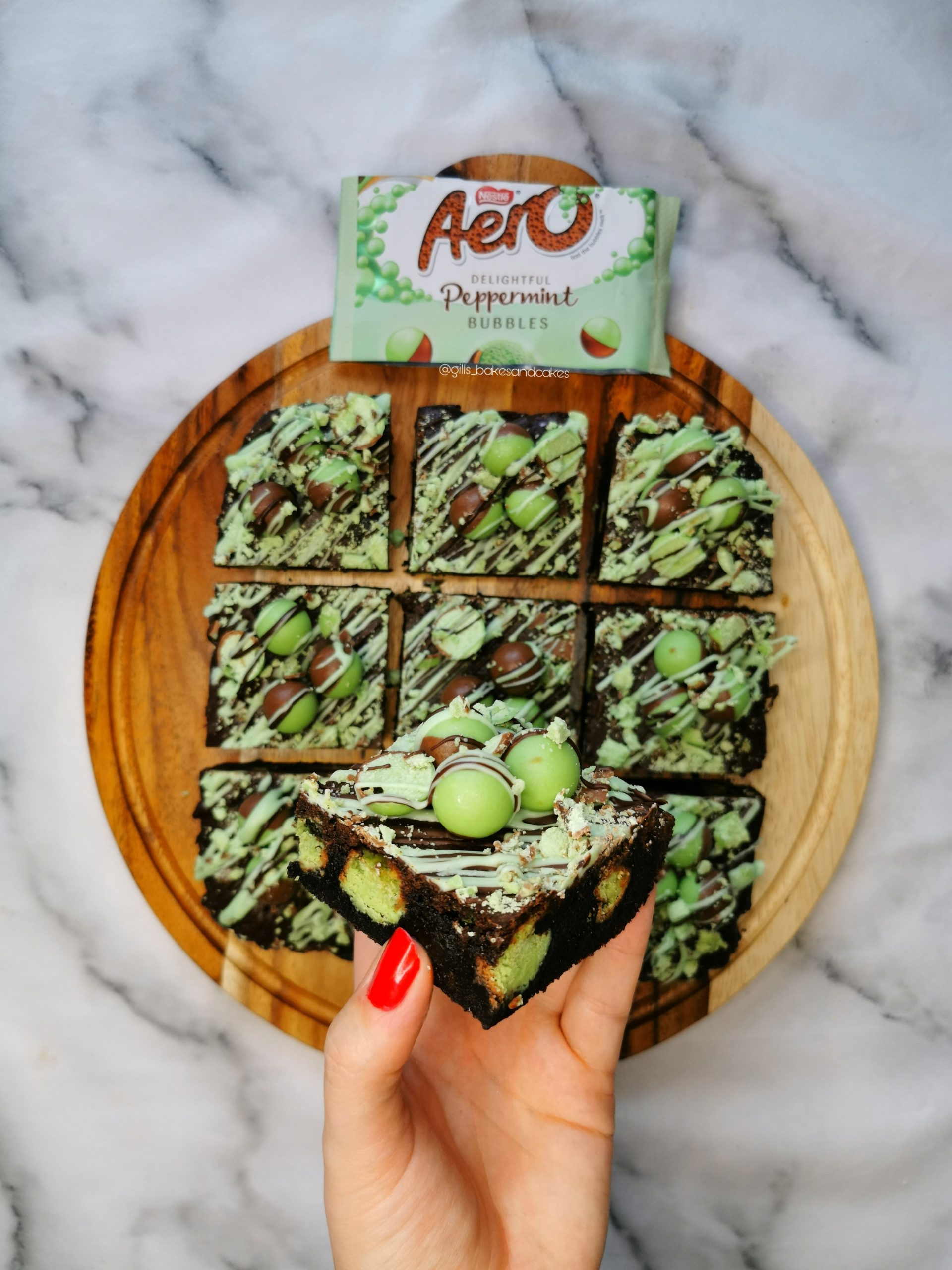Mint Aero Bubble Brownies