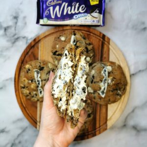 Cadbury's White Chocolate Oreo Stuffed Cookies