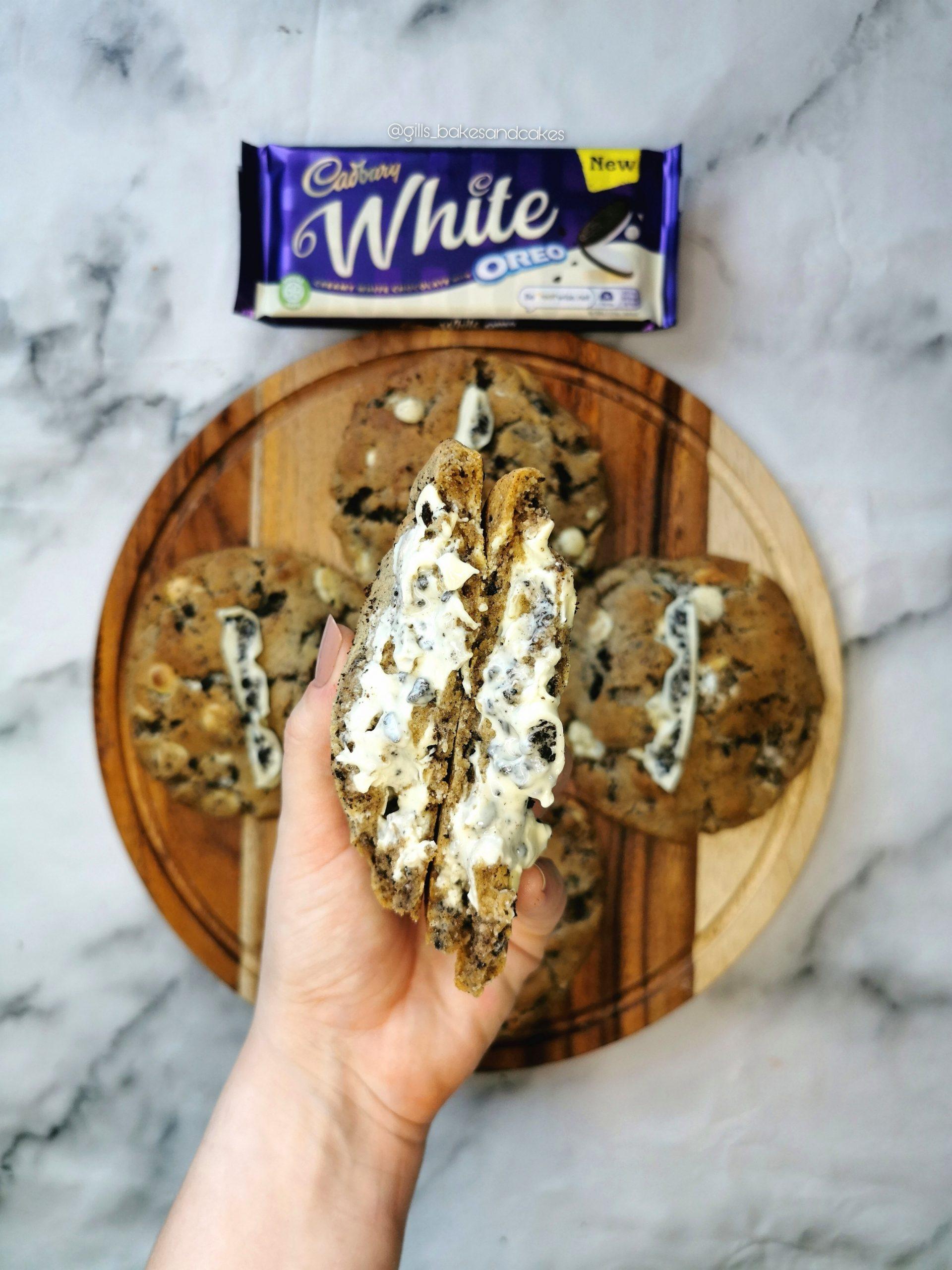 Cadbury's White Chocolate Oreo Stuffed Cookies