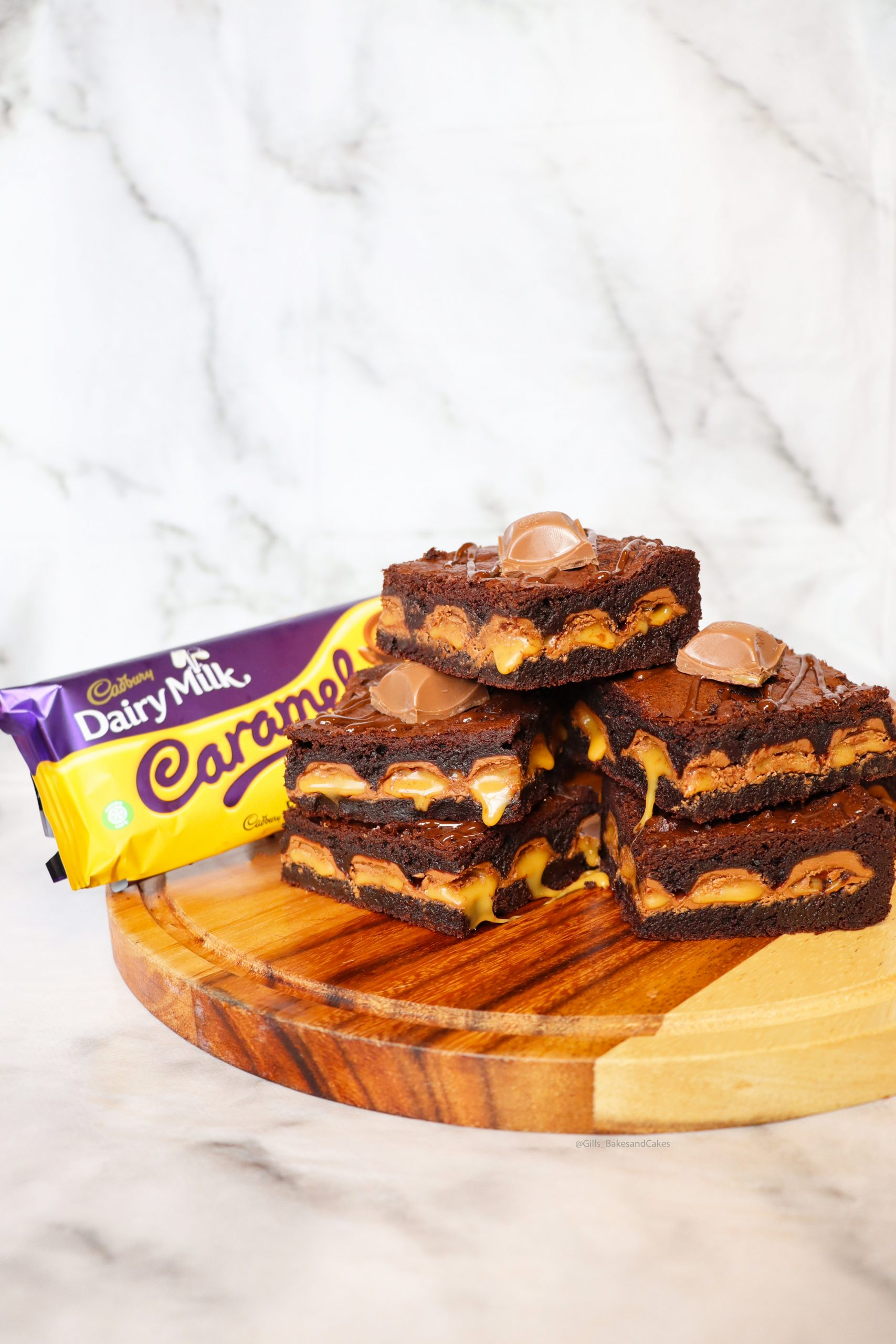 Dairy Milk Caramel Brownies