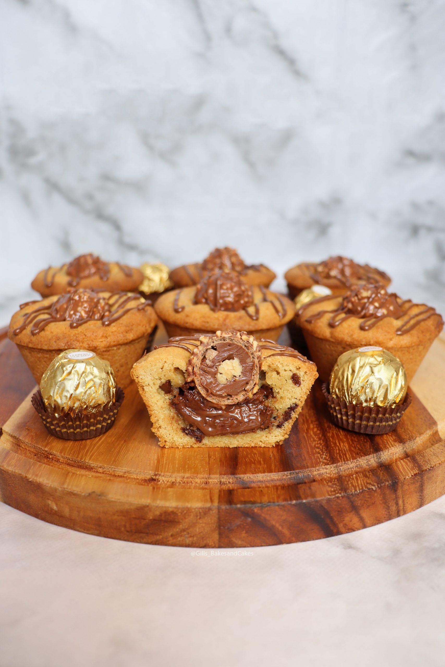 Ferrero Rocher & Nutella Cookie Cups