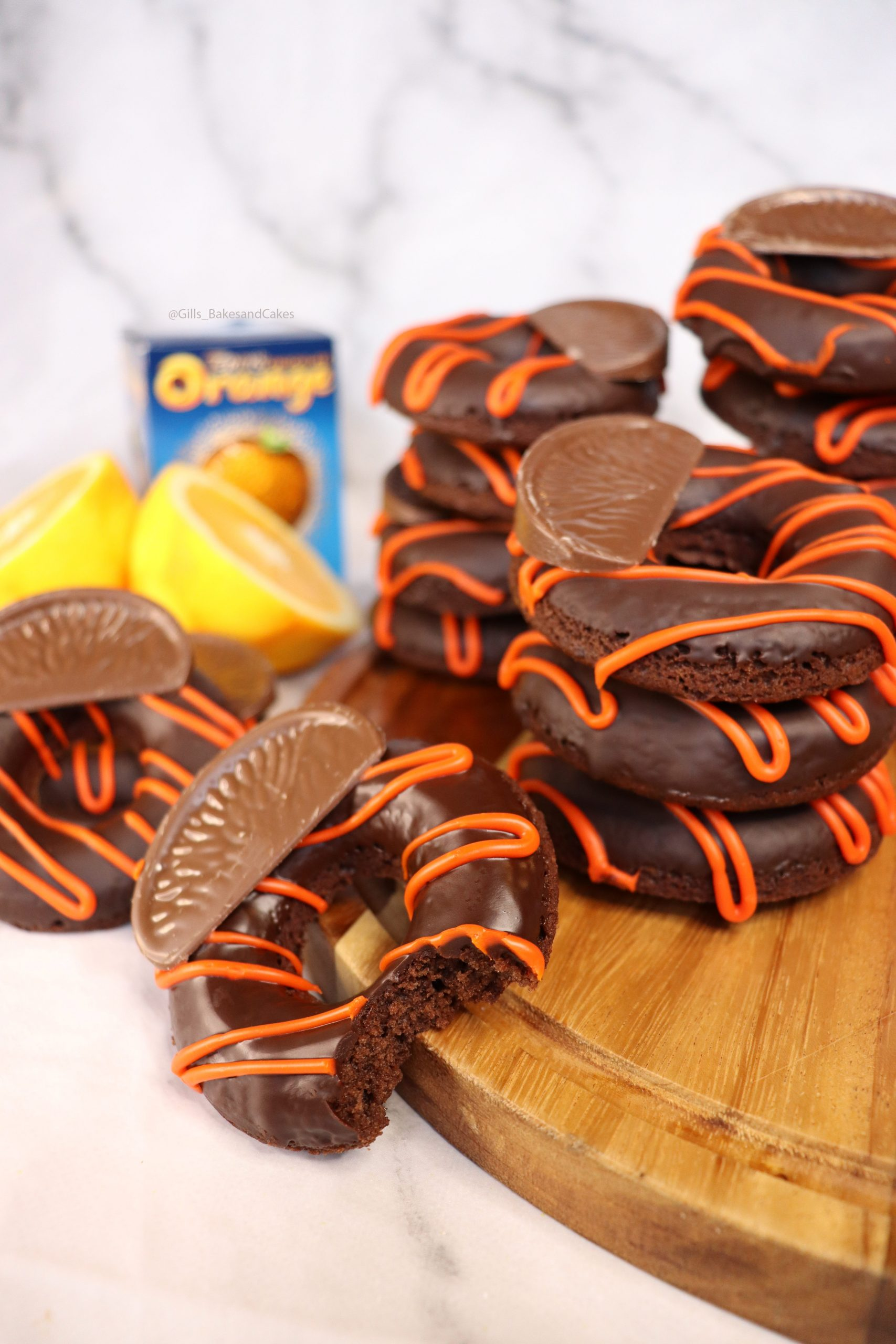 Terrys Chocolate Orange Baked Donuts