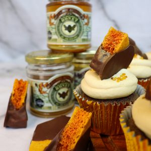 Chocolate Honeycomb Cupcakes