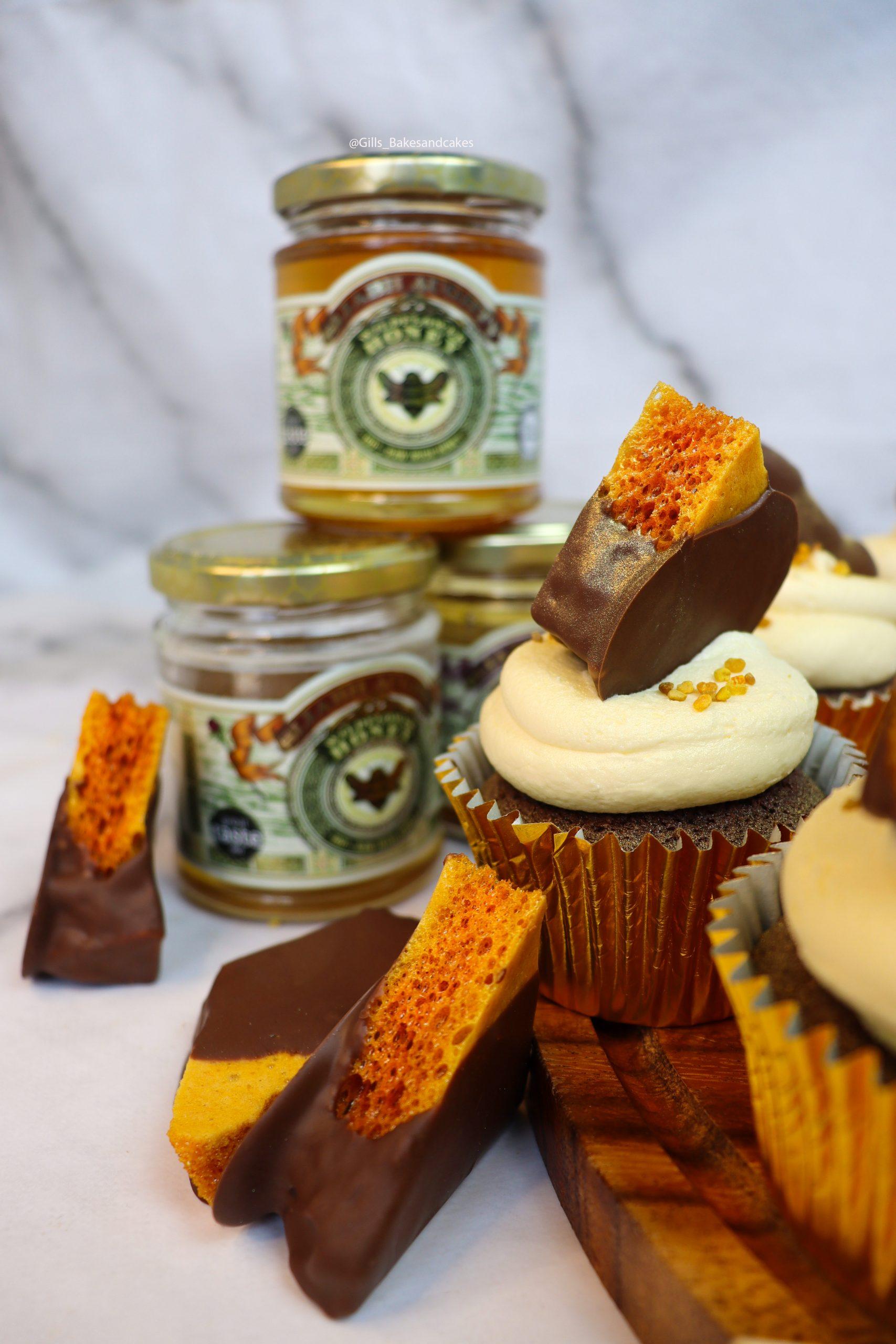 Chocolate Honeycomb Cupcakes