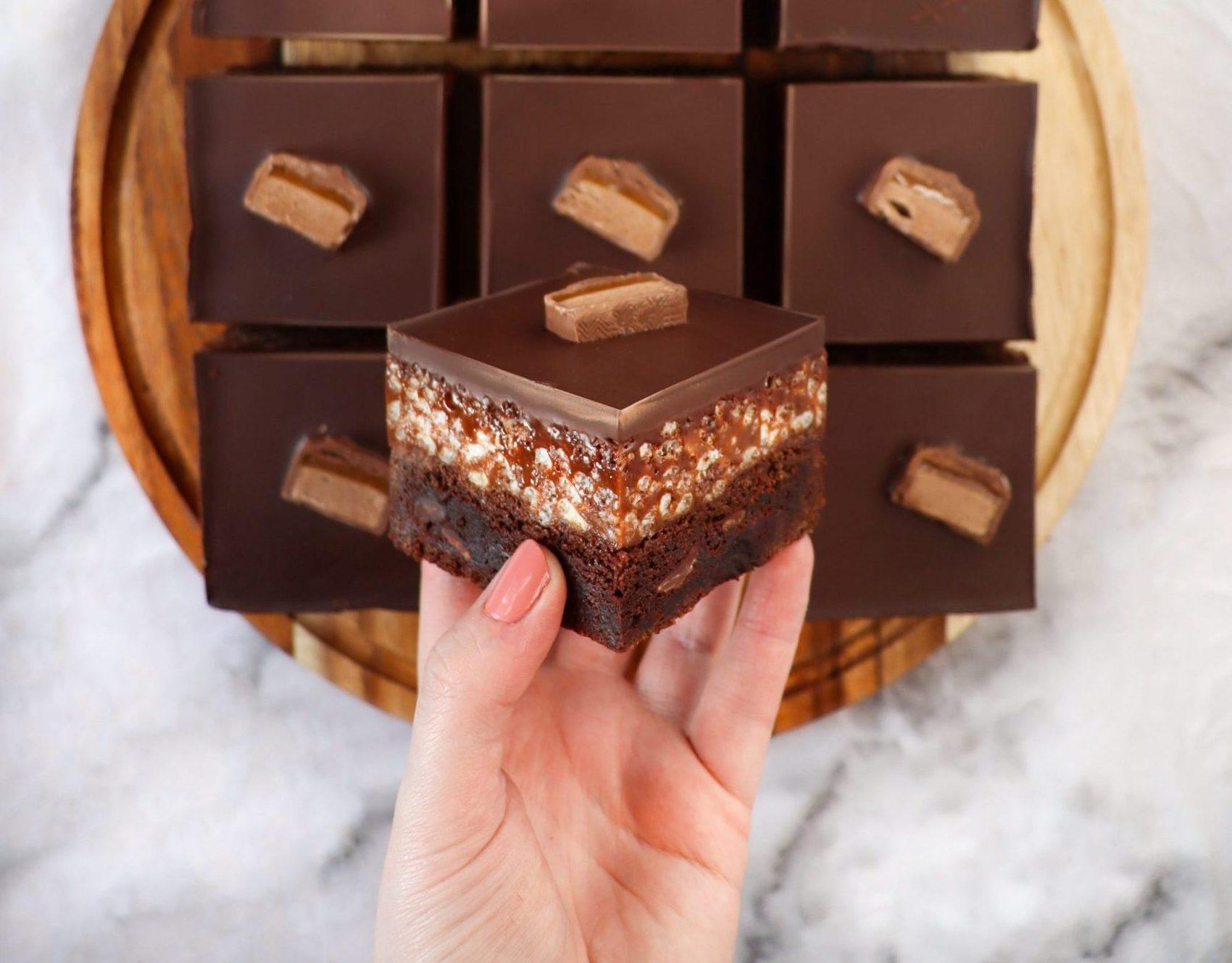 Mars Bar Square Brownies