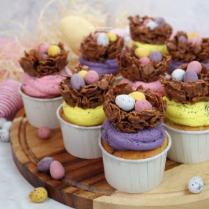 Mini Egg Nest Cupcakes