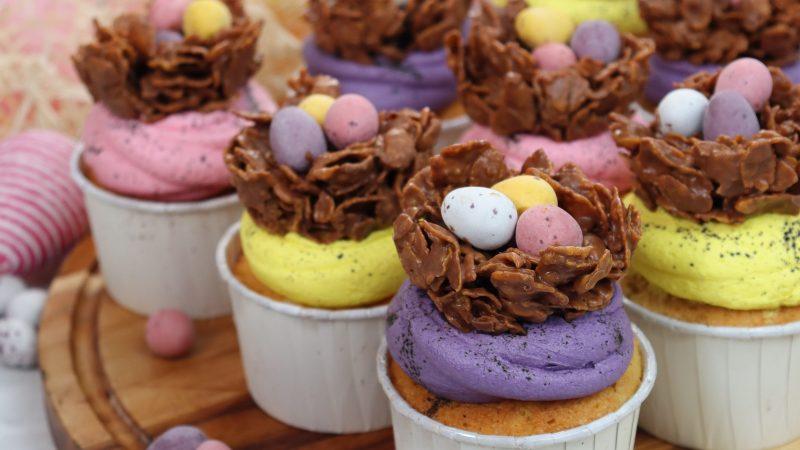 Mini Egg Nest Cupcakes