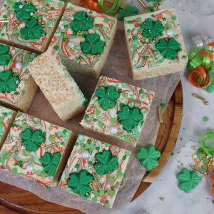 St.Patrick's Day Rice Krispie Squares