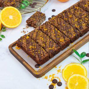 Chocolate Orange Baked Oat Bars