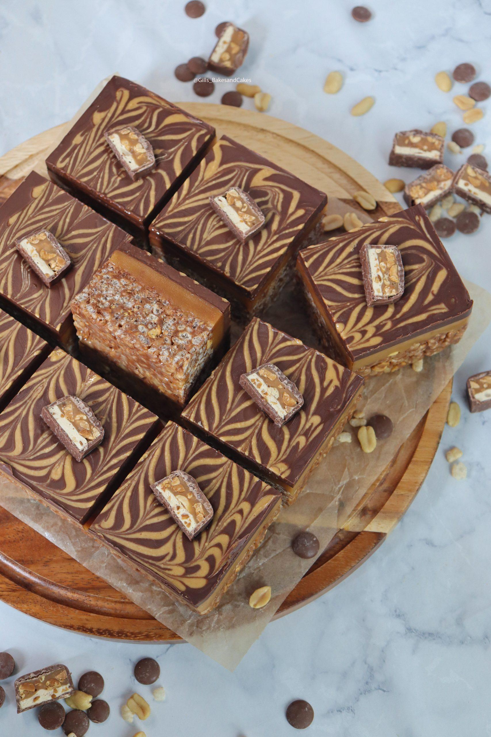 Snickers Millionaire Rice Krispie Square